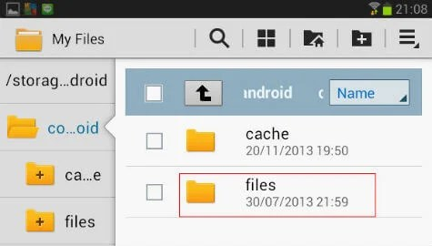 android dropbox root folder