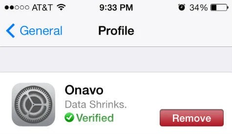 iOS Profile remove