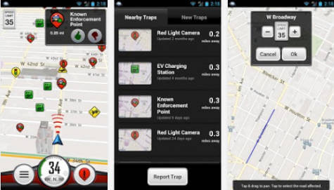 android trapster