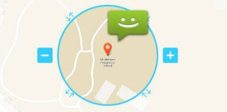 location based sms android