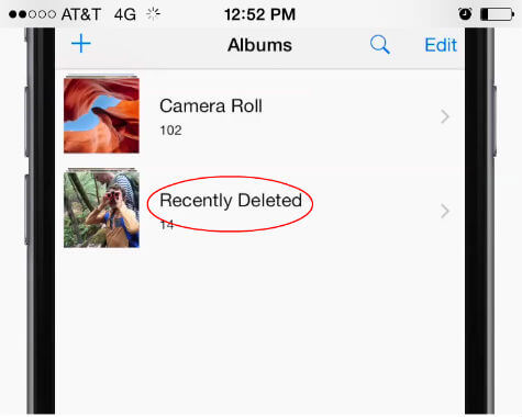 ios recover deleted photos