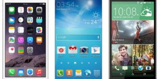 Apple iPhone 6 Vs Samsung Galaxy S6 Vs HTC One M9