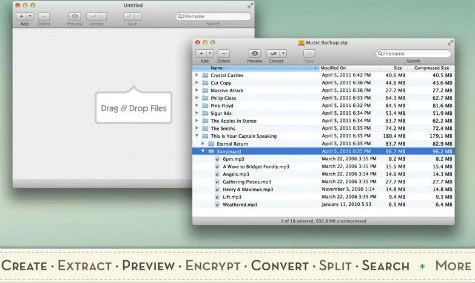 Сompress, extract, open archive as a folder on Mac