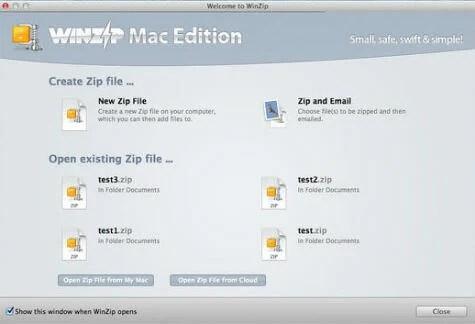 Zip files and folders on Mac