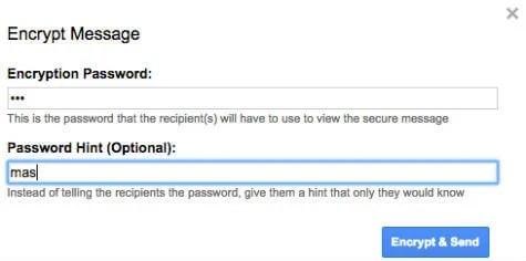 email password window