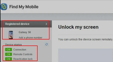 How to unlock my samsung account