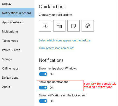 How to Disable or Enable App Notifications in Windows 10