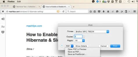 How to Save a Clean PDF Version of a Webpage By Removing Ads