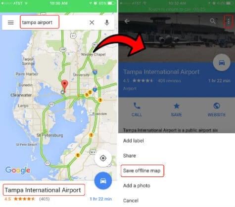 google map save offline