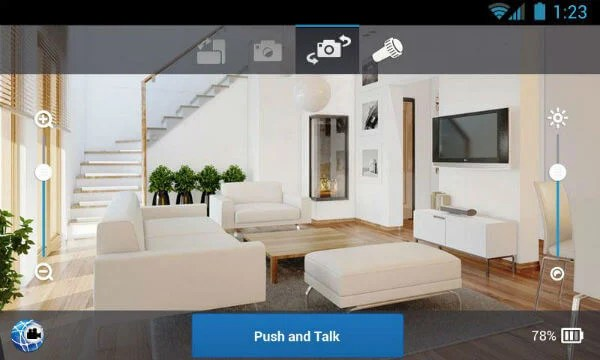 android security camera app controls