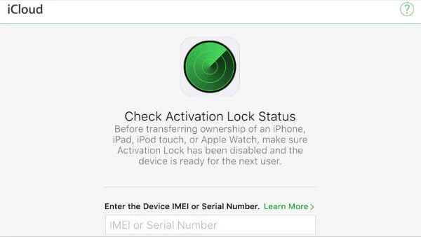 iPhone check activation lock