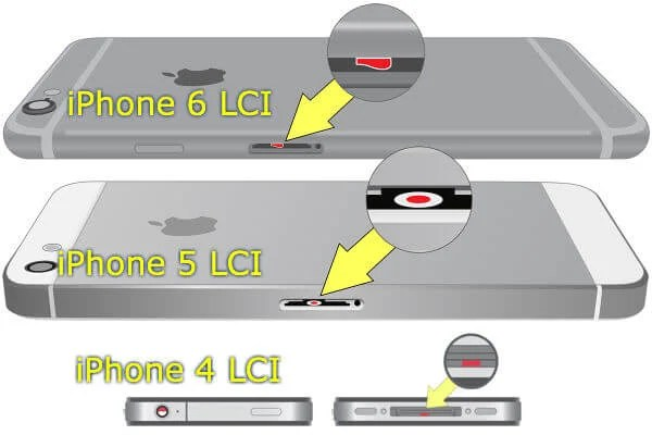 iphone water damage LCI detectors