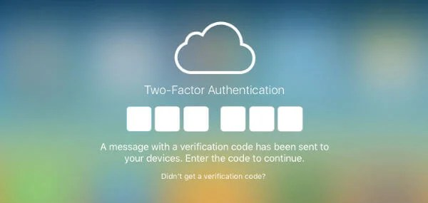 iCloud Two-Factor Auth