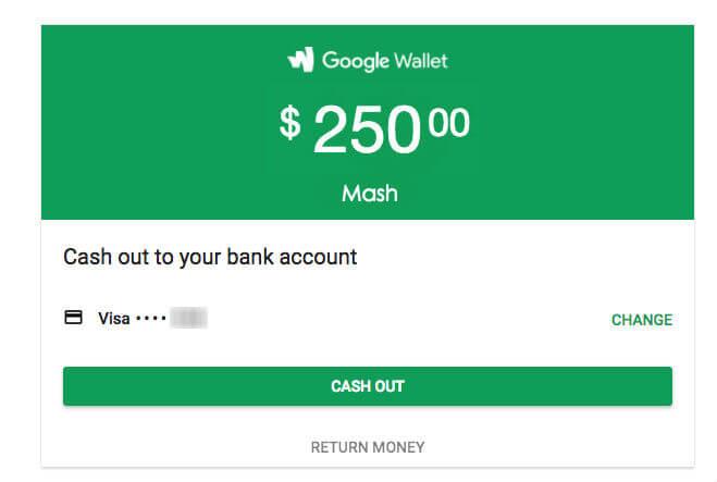 gmail money sent cash out