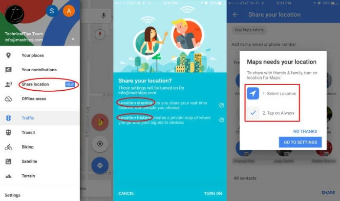 How to Share Live Location with iPhone & Android Phone  | Mashtips