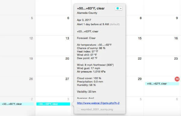 how to add calendar based on url into ical