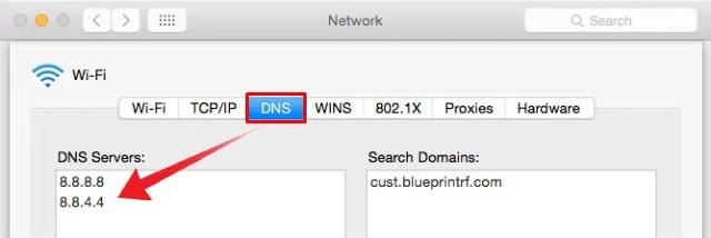 Remove Manual DNS