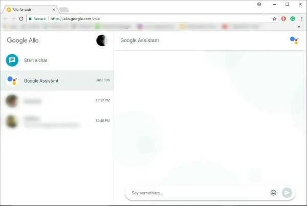 Google Allo Web App