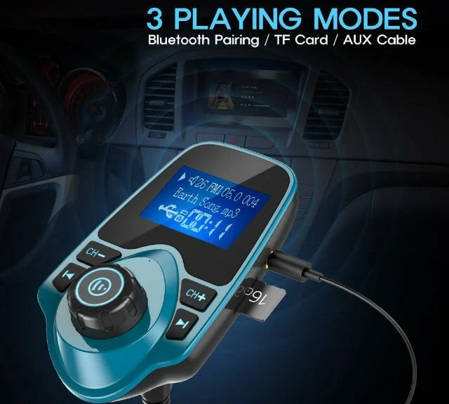 Nulaxy Wireless Bluetooth FM Transmitter