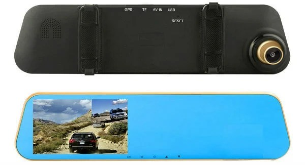 TENNBOO Full HD Dual Lens Car Dash Camera