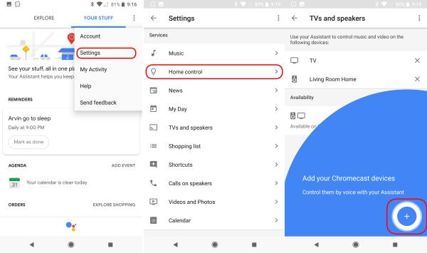 Google Assistant Home Control