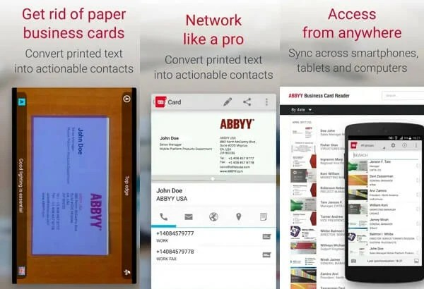 7 best business card scanner apps for android mashtips abby biz card reader reheart Choice Image