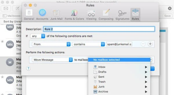 Apple Email Block Sender