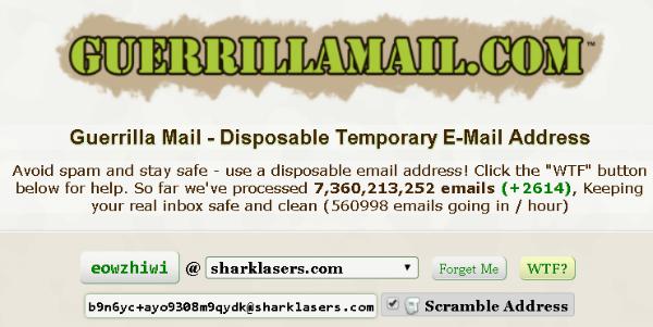 GuerrilaMail Disposable Eail Service