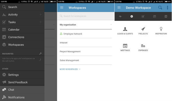 Podio Android project management app