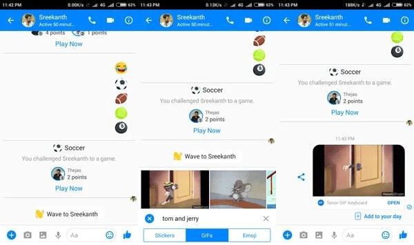animated gif in facebook messenger