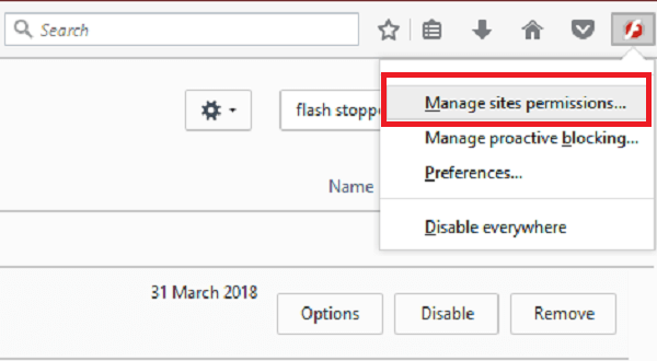 stop auto play videos by flashstopper permissions for firefox