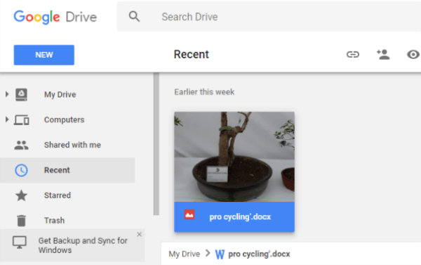 Google Drive File Version Update