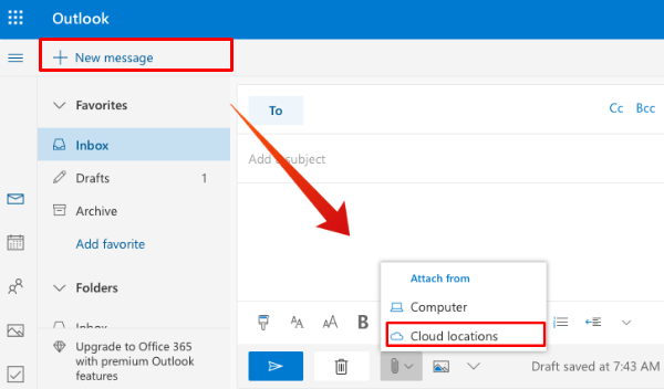 how to email large pdf files in outlook