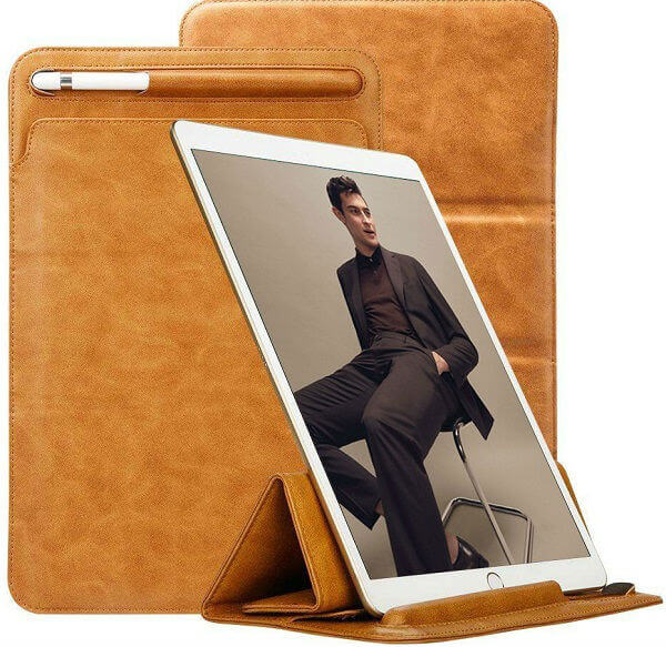TOOVREN Tri-fold Stand Ultra-Thin Leather PU Pouch Cover