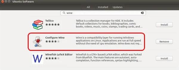 Configure Wine install