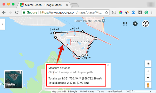 Google Map Area Calculation