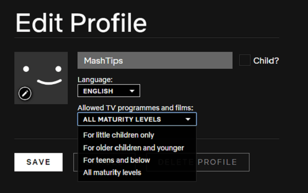 Windows chrome netflix maturity levels