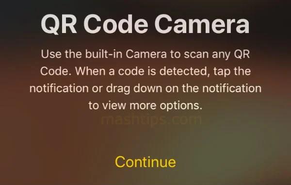 iPhone QR Code Camera