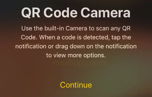 iPhone QR Code Camera