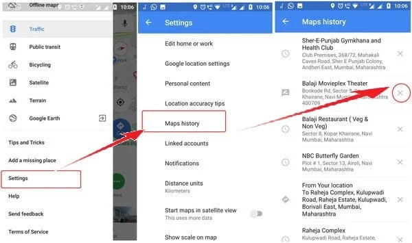 How to Delete Google Map and Waze History | Mashtips Edit Home On Google Maps on