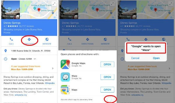 Set Waze Default Map: Change Default Navigation App on Android ... Default Map App Iphone on