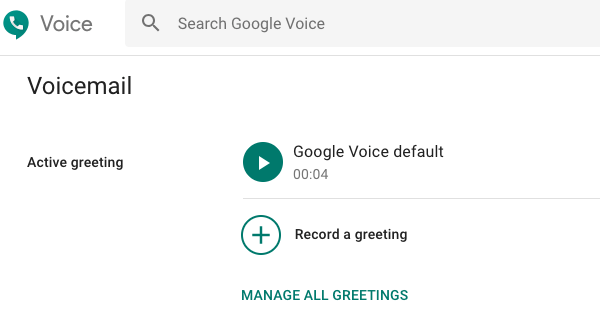 Set Google Voice Voicemail
