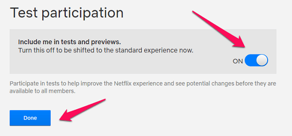 windows chrome netflix test participation