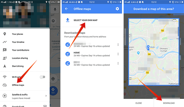 How to navigate using offline maps