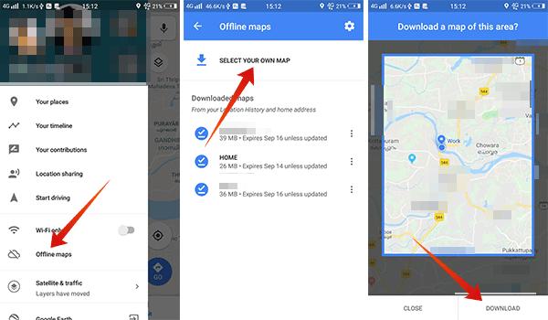 How to navigate using offline maps