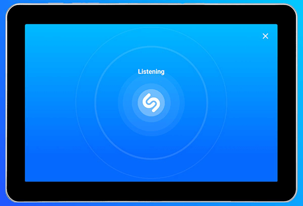 Shazam app on Android