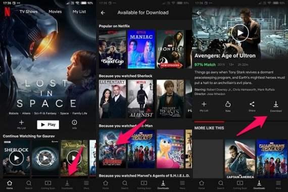 Khetho ea download ea Netflix ea Android