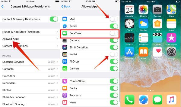 iphone hide built in apps