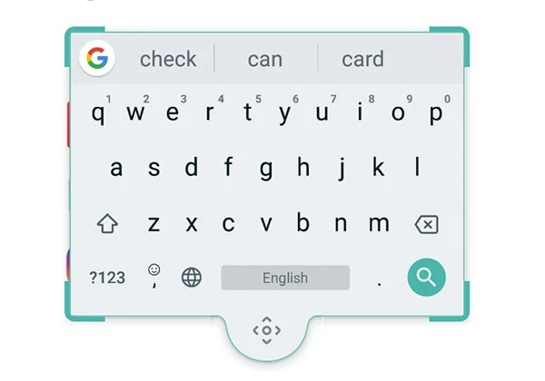 Floating Keyboard in Gboard for Android