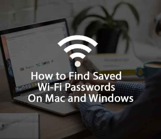 Find Saved WIFI Passwords Mac Windows